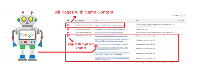 Duplicate Web Pages