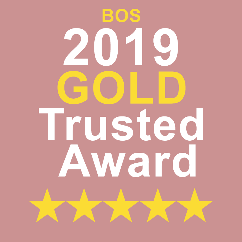 Gold Trusted Service Award 2019 BY Best of Stuff